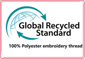 Recycled polyester embroidery thread